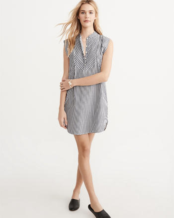 ANF Sleeveless Shirtdress