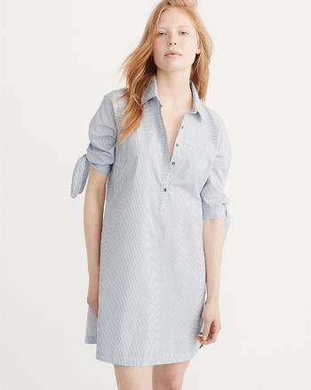 ANF Tie Sleeve Shirtdress