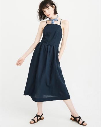 ANF Square-Neck Midi Dress