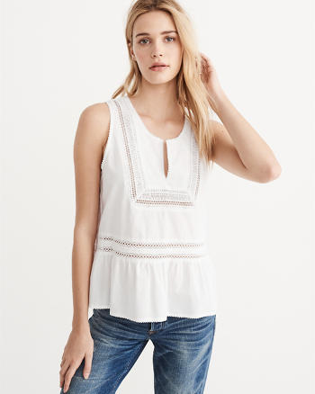ANF Embroidered Shell Tank