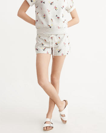 ANF Printed Tie-Waist Shorts