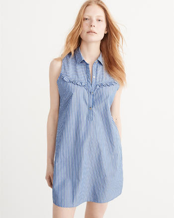 ANF Ruffle Shirtdress