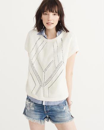 ANF Short Sleeve Crew Sweater