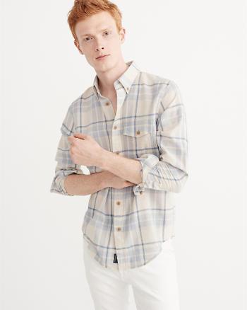 ANF Linen-Blend Shirt