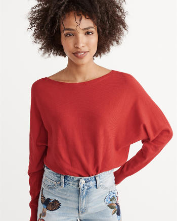 ANF Dolman Boatneck Sweater