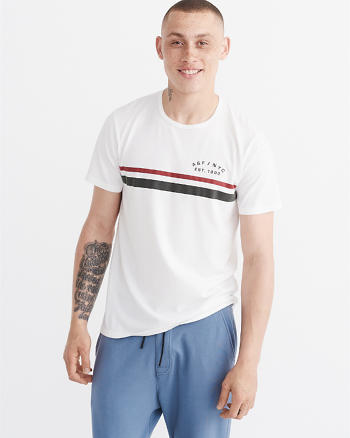 ANF Striped Logo Graphic Tee