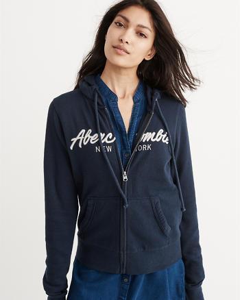 ANF Logo Full-Zip Hoodie