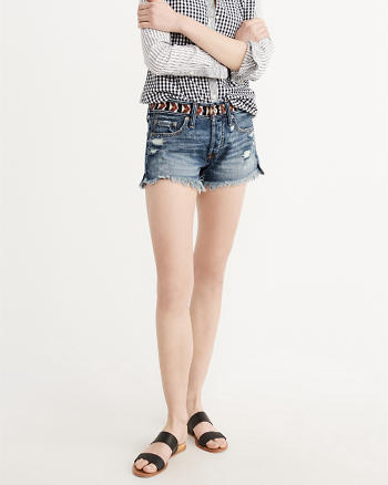 ANF Embroidered Waistband Boyfriend Shorts