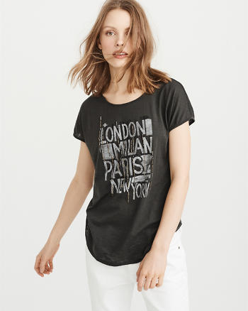 ANF Embellished Graphic Tee