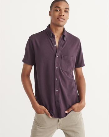 ANF Button-Down Polo