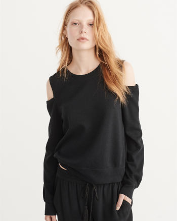 ANF Cold-Shoulder Crewneck Top