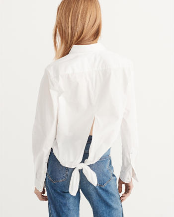 ANF Tie Back Shirt