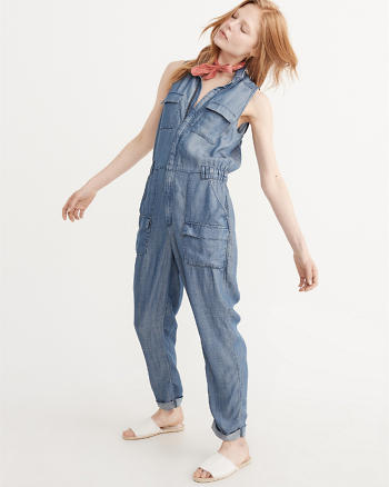 ANF Zip-Up Jumpsuit