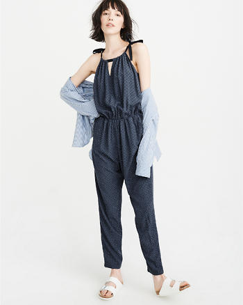ANF Tie-Shoulder Jumpsuit