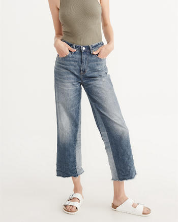 ANF Cropped High-Rise Stovepipe Jeans