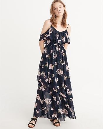 ANF Cold-Shoulder Maxi Dress