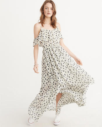 ANF Cold-Shoulder Maxi Dress