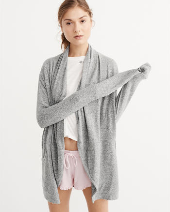 ANF Cozy Jersey Knit Cardigan