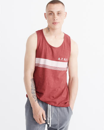 ANF Striped Logo Tank