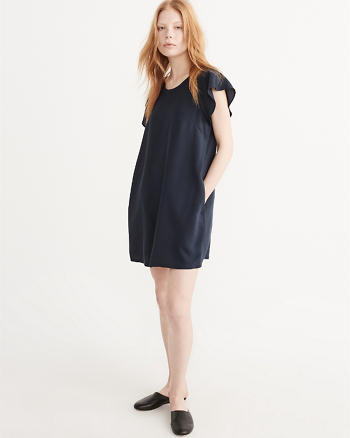 ANF Flutter Sleeve Shift Dress