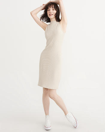 ANF Mock Neck Midi Dress