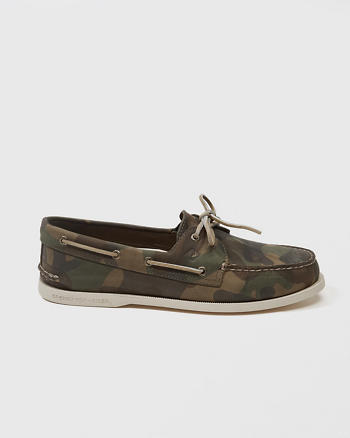 ANF Sperry Camo Boat Shoes