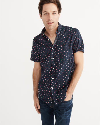 ANF Short-Sleeve Oxford Shirt