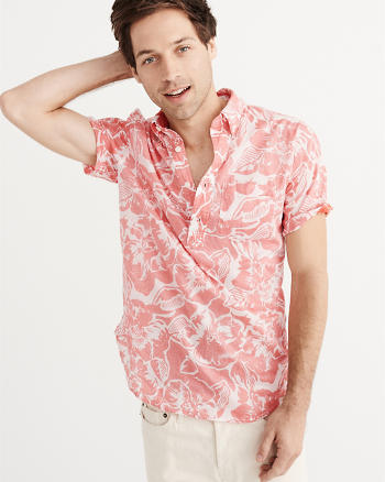 ANF Printed Popover Shirt