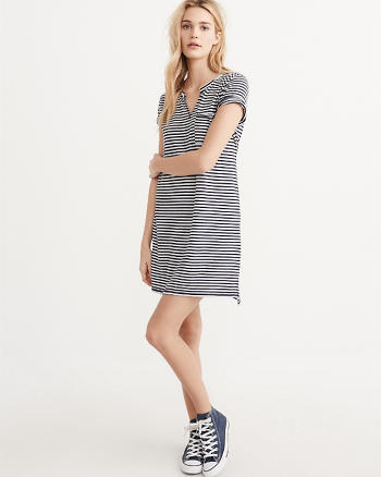 ANF Short Sleeve T-Shirt Dress