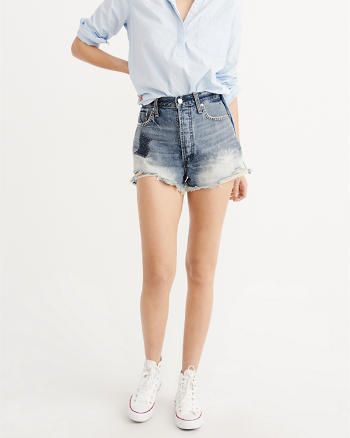 ANF High-Rise Patch Shorts