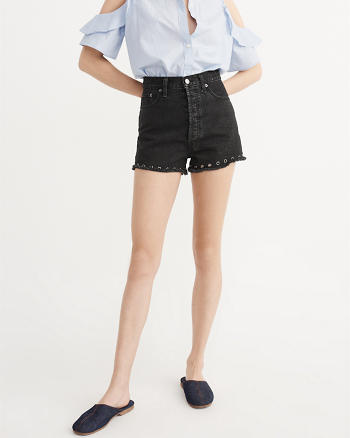 ANF High-Rise Grommet Shorts