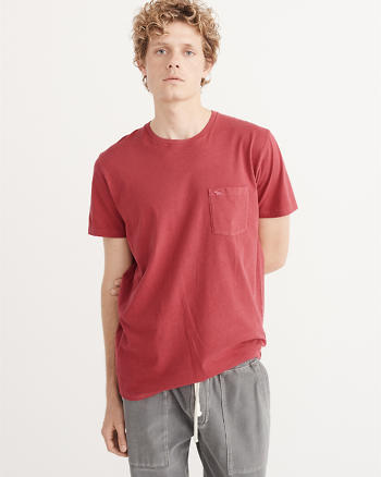 ANF Garment Dye Icon Pocket Tee