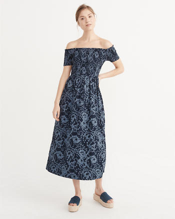 ANF Off-The-Shoulder Midi Dress