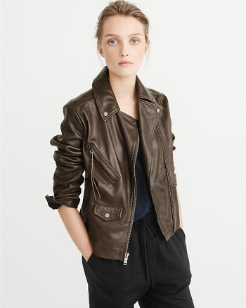 ANF Leather Biker Jacket