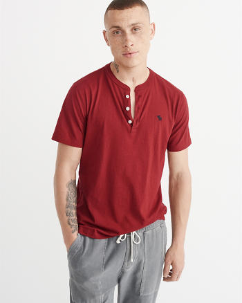ANF Pop Icon Short-Sleeve Henley