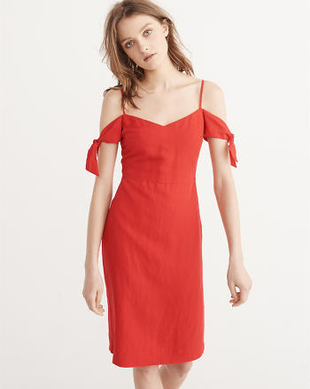 ANF Tie-Shoulder Midi Dress