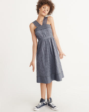 ANF Eyelet Midi Dress