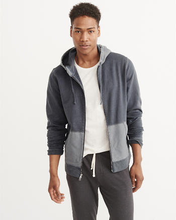 ANF Lightweight Zip-Up Hoodie
