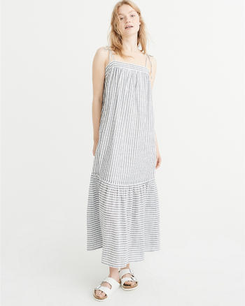 ANF Tie-Shoulder Maxi Dress