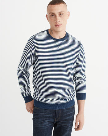 ANF Long-Sleeve Indigo Crew