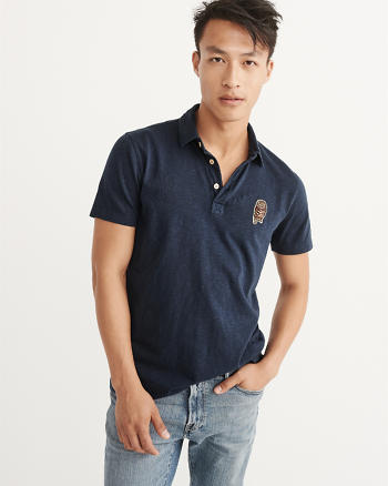 ANF Novelty Patch Polo
