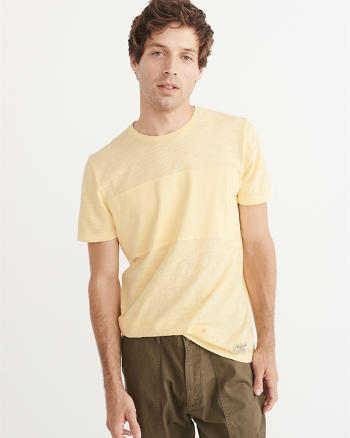 ANF Garment Dye Mixed Fabric Tee