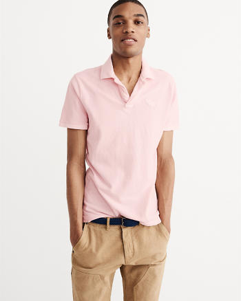 ANF Garment Dye Big Icon Polo