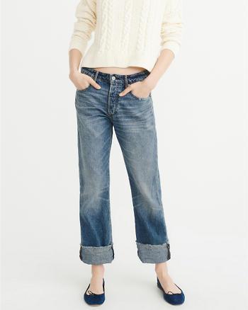 ANF Low-Rise Boyfriend Jeans