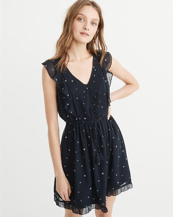 ANF Ruffle Sleeve Dress