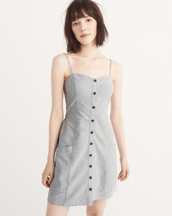 ANF Button-Up Mini Dress