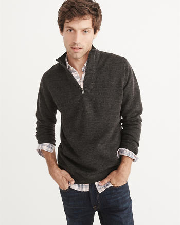 ANF Merino-Blend Half-Zip Sweater