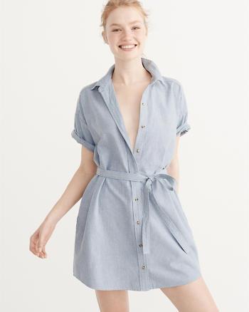 ANF Short-Sleeve Shirt Dress