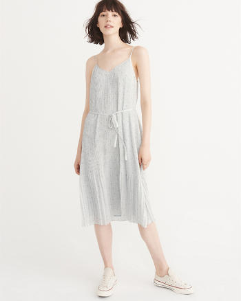 ANF Chiffon Pleated Midi Dress