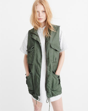 ANF Long Military Vest